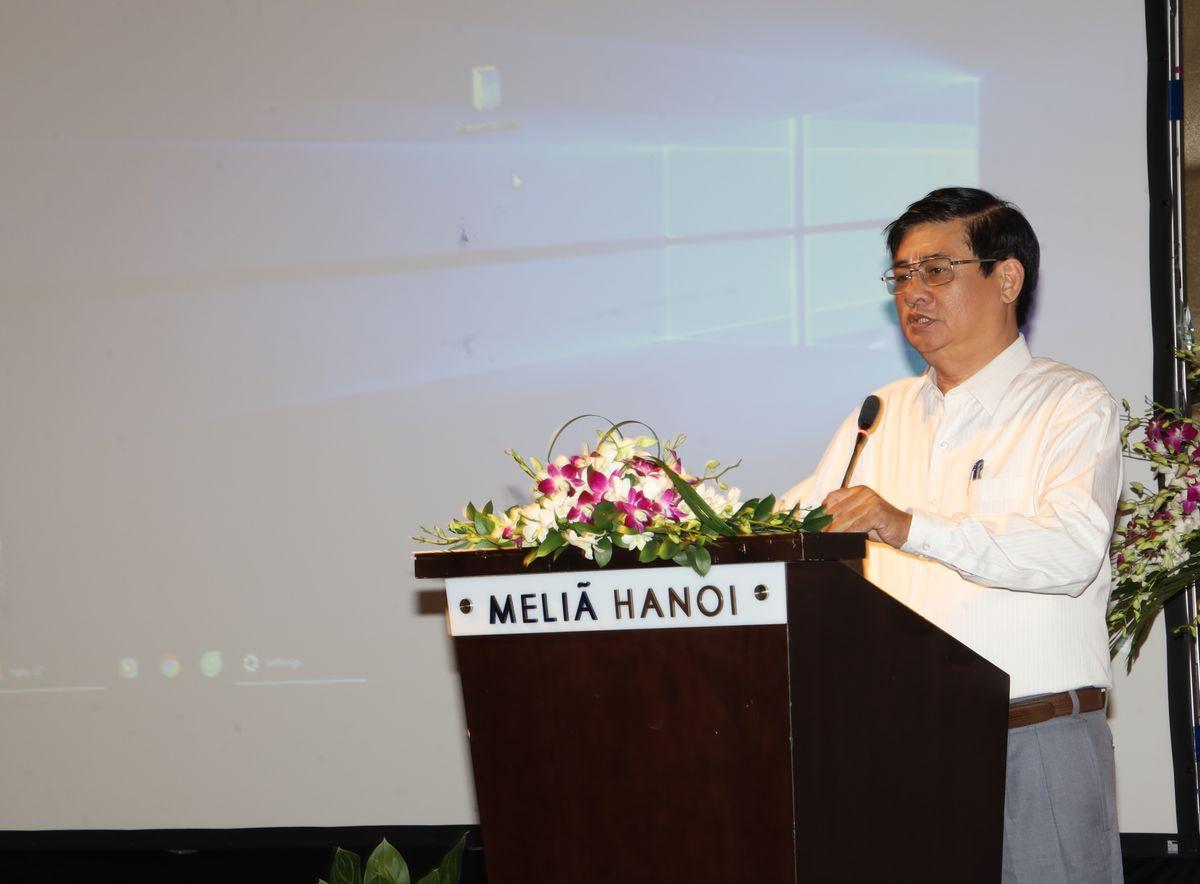 Ông Phan Trọng Hổ - Giams đốc Sở NN & PTNN tỉnh Bình Định nêu quan điểm tại hội nghị